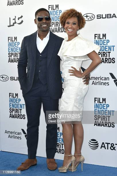 Sterling K Brown and Ryan Michelle Bathe attend the 2019 Film Independent Spirit Awards on February 23 2019 in Santa Monica California