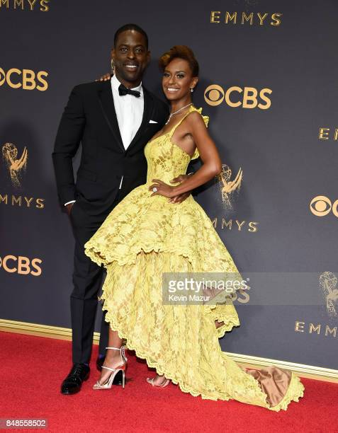 Sterling K. Brown and Ryan Michelle Bathe attend the 69th Annual Primetime Emmy Awards at Microsoft Theater on September 17, 2017 in Los Angeles,...