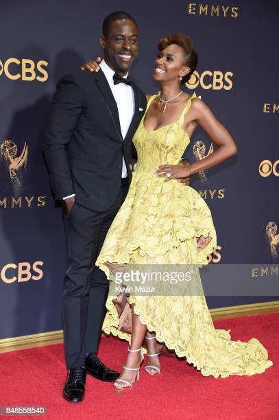 Sterling K Brown and Ryan Michelle Bathe attend the 69th Annual Primetime Emmy Awards at Microsoft Theater on September 17 2017 in Los Angeles...
