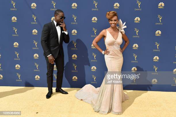 Sterling K Brown and Ryan Michelle Bathe attend the 70th Emmy Awards at Microsoft Theater on September 17 2018 in Los Angeles California