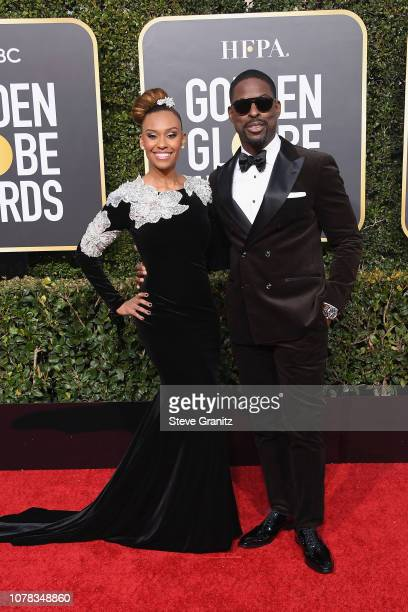 Sterling K Brown and Ryan Michelle Bathe attend the 76th Annual Golden Globe Awards at The Beverly Hilton Hotel on January 6 2019 in Beverly Hills...