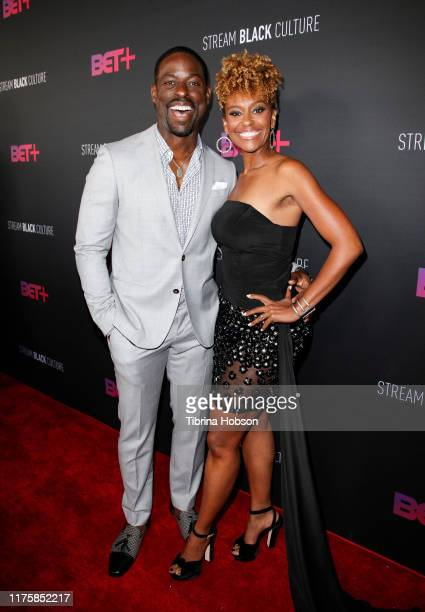 Sterling K Brown and Ryan Michelle Bathe attend the BET red carpet and launch party at NeueHouse Los Angeles on September 19 2019 in Hollywood...