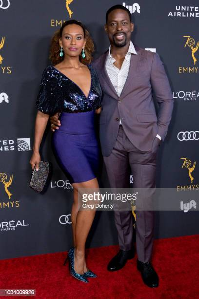 Sterling K Brown and Ryan Michelle Bathe attend the Television Academy Honors Emmy Nominated Performers Reception at Wallis Annenberg Center for the...