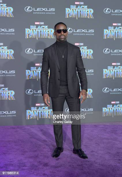 Sterling K Brown arrives for the World Premiere of Marvel Studios' Black Panther presented by Lexus at Dolby Theatre in Hollywood on January 29th