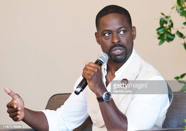 Sterling K Brown attends 20th Century Fox Television and NBC's This Is Us Pancakes with the Pearsons panel at 1 Hotel West Hollywood on August 10...