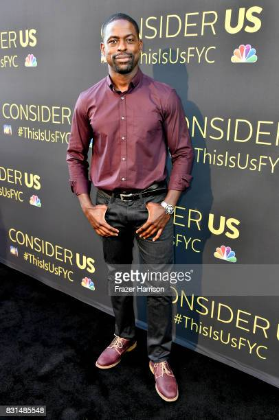 Sterling K Brown attends FYC Panel Event For 20th Century Fox And NBC's 'This Is Us' at Paramount Studios on August 14 2017 in Hollywood California