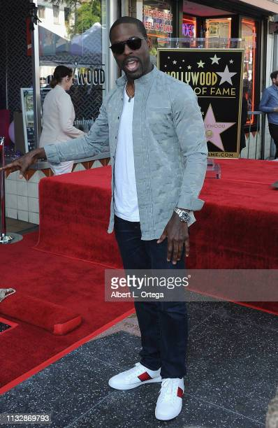 Sterling K Brown attends Mandy Moore's Star Ceremony on the Hollywood Walk of Fame on March 25 2019 in Hollywood California