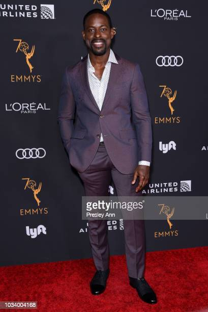 Sterling K Brown attends Television Academy Honors Emmy Nominated Performers Arrivals at Wallis Annenberg Center for the Performing Arts on September...