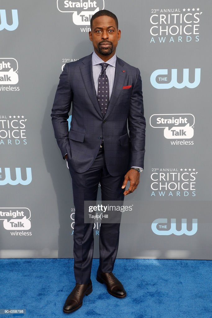 Sterling K. Brown attends the 23rd Annual Critics' Choice Awards at Barker Hangar on January 11, 2018 in Santa Monica, California.