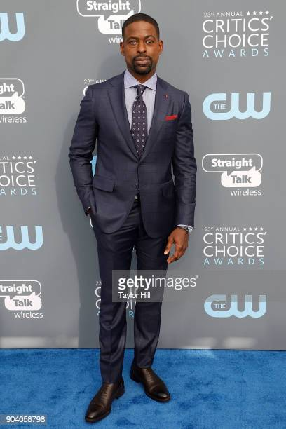 Sterling K Brown attends the 23rd Annual Critics' Choice Awards at Barker Hangar on January 11 2018 in Santa Monica California