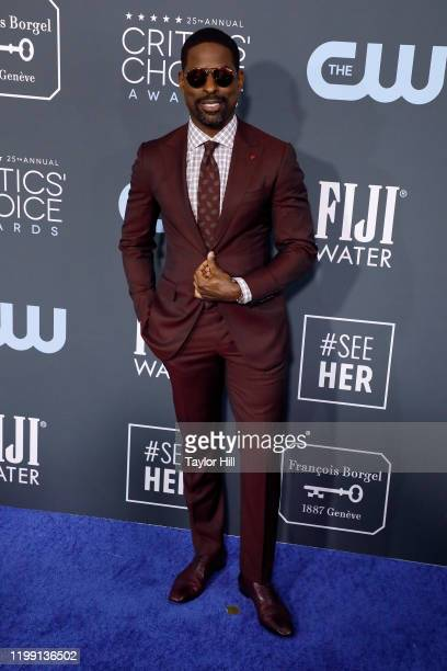 Sterling K Brown attends the 25th Annual Critics' Choice Awards at Barker Hangar on January 12 2020 in Santa Monica California