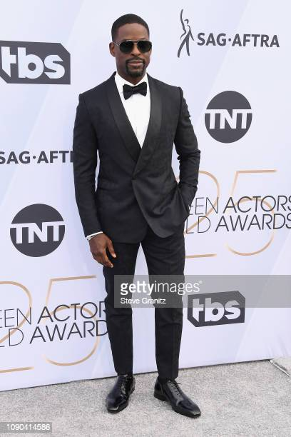 Sterling K. Brown attends the 25th Annual Screen ActorsGuild Awards at The Shrine Auditorium on January 27, 2019 in Los Angeles, California.