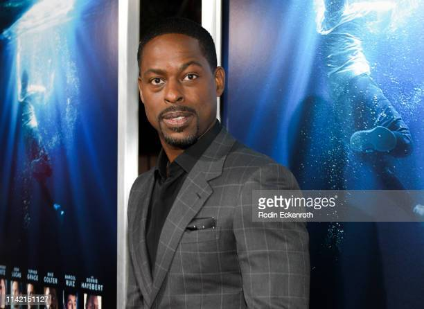Sterling K Brown attends the premiere of 20th Century Fox's Breakthrough at Westwood Regency Theater on April 11 2019 in Los Angeles California