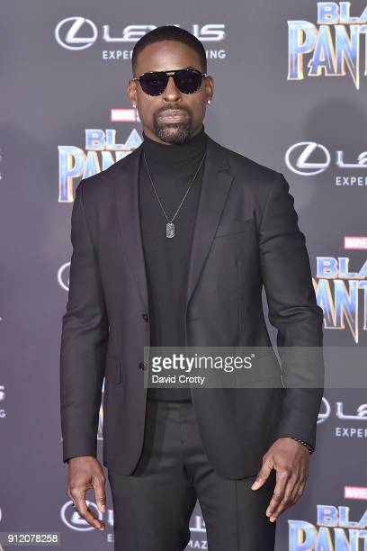 Sterling K Brown attends the Premiere Of Disney And Marvel's 'Black Panther' Arrivals on January 29 2018 in Hollywood California