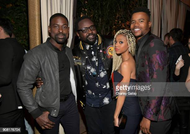 Sterling K Brown Brian Tyree Henry Tiffany Boone and Marque Richardson attend Entertainment Weekly's Screen Actors Guild Award Nominees Celebration...