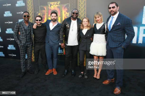 Sterling K Brown Charlie Day Drew Pearce Brian Tyree Henry Jodie Foster Sofia Boutella and Dave Bautista attend Global Road Entertainment's 'Hotel...
