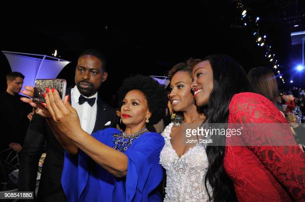 Sterling K Brown Jenifer Lewis Ryan Michelle Bathe and Charmaine Lewis attend the 24th Annual Screen Actors Guild Awards at The Shrine Auditorium on...