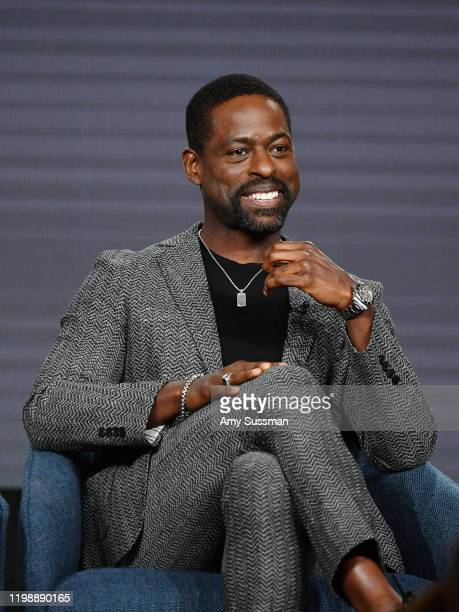Sterling K Brown of This Is Us speak during the NBCUniversal segment of the 2020 Winter TCA Press Tour at The Langham Huntington Pasadena on January...