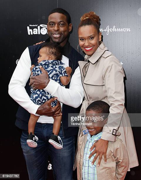 Sterling K Brown Ryan Michelle Bathe and family attend the GOOD Foundation's 1st Halloween Bash at Sunset Gower Studios on October 30 2016 in...