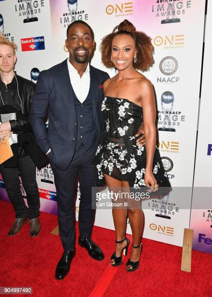 Sterling K Brown Ryan Michelle Bathe at the 49th NAACP Image Awards NonTelevised Awards Dinner at the Pasadena Conference Center on January 14 2018...