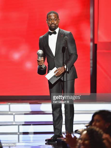 Sterling K Brown speaks onstage at the 49th NAACP Image Awards on January 15 2018 in Pasadena California