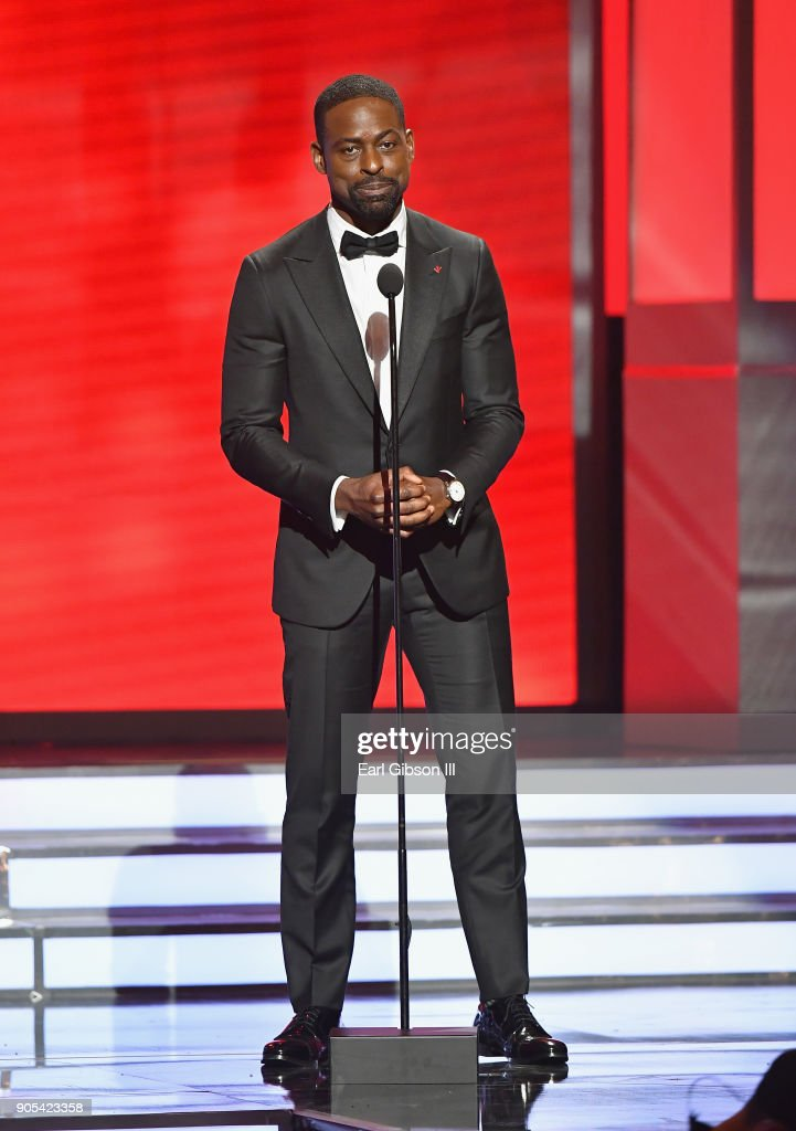 Sterling K. Brown speaks onstage at the 49th NAACP Image Awards on January 15, 2018 in Pasadena, California.
