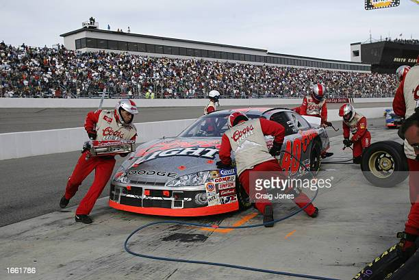 Sterling Marlin driver of the Coors Light Ganassi Racing Dodge Intrepid R/T during the Pop Secret Microwave Popcorn 400 on November 3 2002 at North...