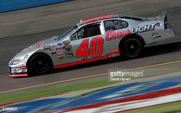 Sterling Marlin drives the Ganassi Racing Coors Light Dodge during practice for the NASCAR Nextel Cup Checker Auto Parts 500 on November 5 2004 at...