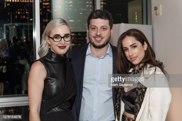Sterling McDavid Carey Dorman and Nicole Rose Stillings attend the Burnett New York PreFall Fashion Presentation and Launch Party at The Glasshouses...