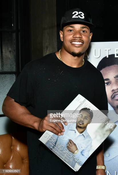 Sterling Shepard attends the Haute Living And Louis XIII Celebrate Sterling Shepard at Brooklyn Chop House on July 22 2019 in New York City