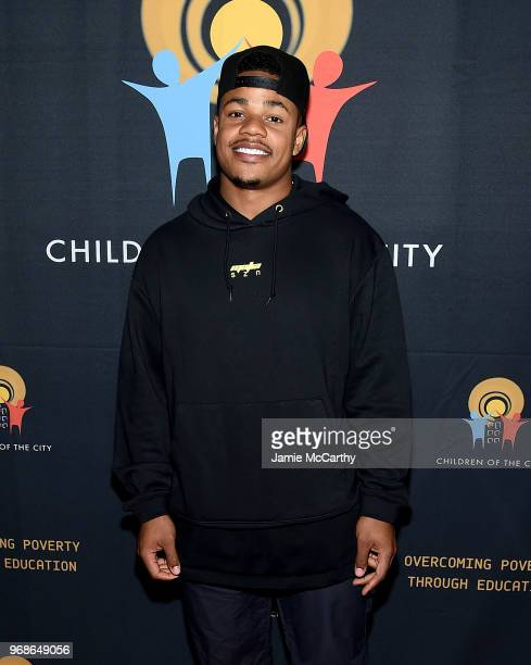 Sterling Shepard of The New York Giants attends the 4th Annual Children Of The City Charity Bowl at Lucky Strike Manhattan on June 6 2018 in New York...