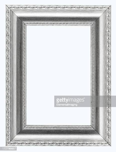 Sterling Silver Picture Frame. Isolated on White with Clipping Path