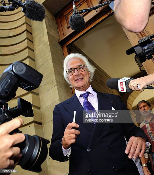 Stern family lawyer Marc Bonnant leaves Geneva courthouse during a break on the last day of the Cecile Brossard's trial on June 18 2009 in Geneva The...