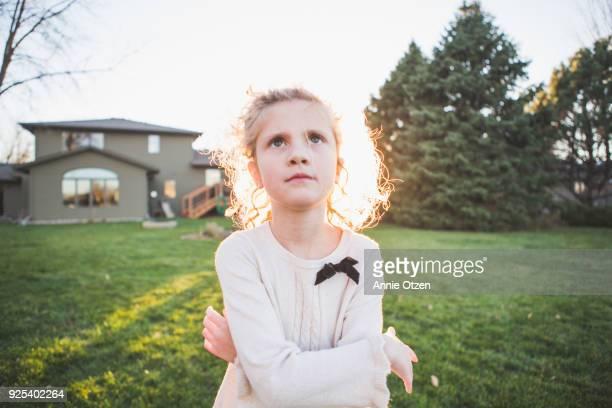 Stern Girl Outside
