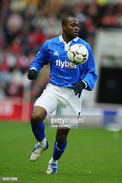 Stern John of Birmingham City during the FA Barclaycard Premiership match between Middlesbrough and Birmingham City at The Riverside Stadium on March...