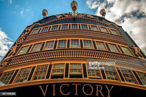 Stern windows of HMS Victory