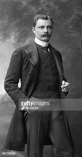 Sternberg Adalbert count Politician Austriawith cigar Photographer Langfier Published by 'Berliner Illustrirte Zeitung' 40/1906Vintage property of...