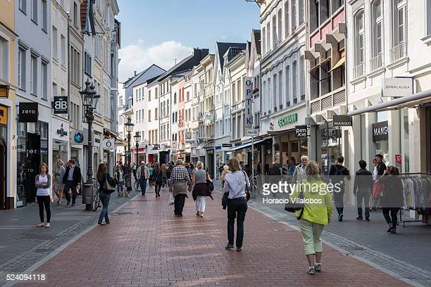 Sternstrasse near the Marktplatz a square originated in the 11th century in Bonn Germany 09 September 2014 Bonn that offers many touristic...