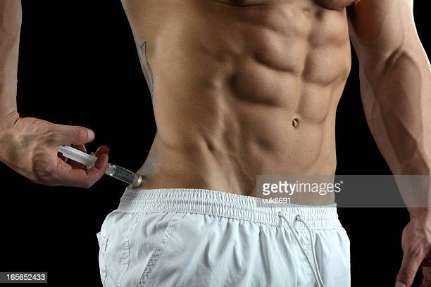 steroid user - shooting up stock pictures, royalty-free photos & images