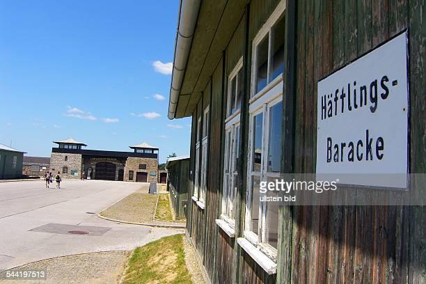 Österreich Oberösterreich Mauthausen Seitenansicht einer Häftlingsbaracke im Konzentrationslager