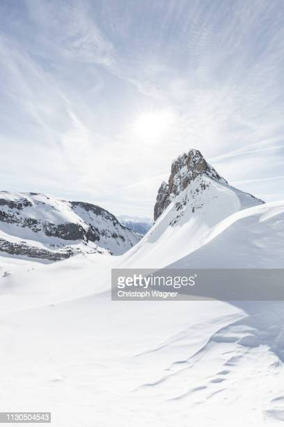 österreich tirol - achensee winter - sonnenuntergang stock pictures, royalty-free photos & images