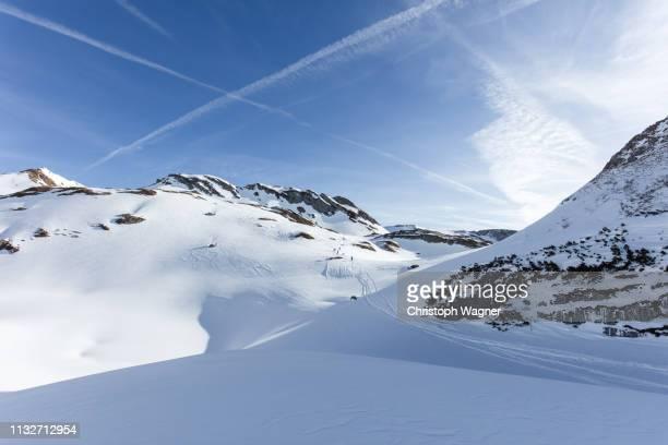 österreich tirol - achensee winter - freizeitaktivität imagens e fotografias de stock