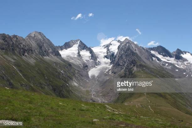 Österreich Tirol Ötztal Alpen Sommer Tourismus Obergurgl Rotmoostal Gletscher