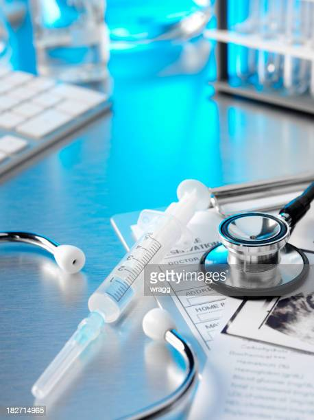 Stethoscope and Medical Notes