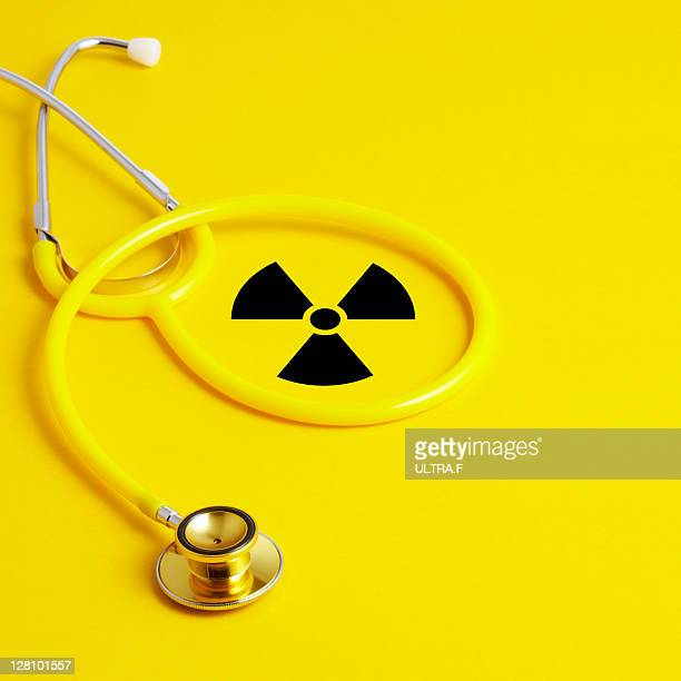 Stethoscope and Radioactive sign