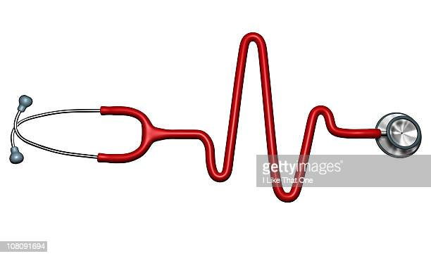 Stethoscope forming a heartbeat