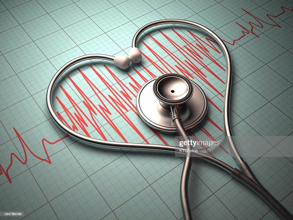 Stethoscope heart shape : Stock Photo