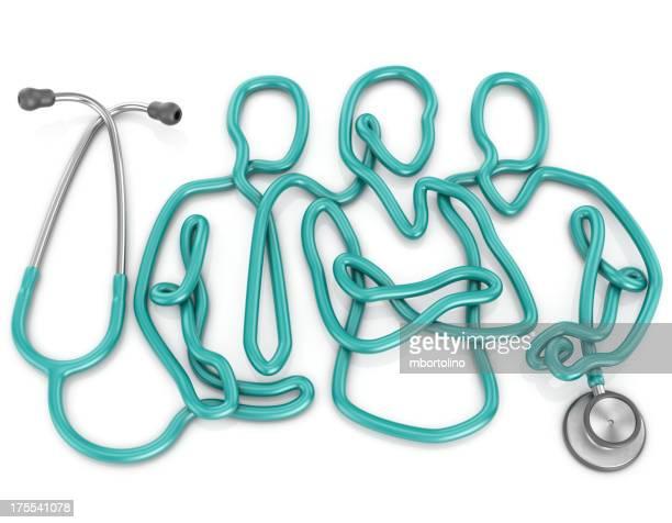 Stéthoscope médical concept d'équipe