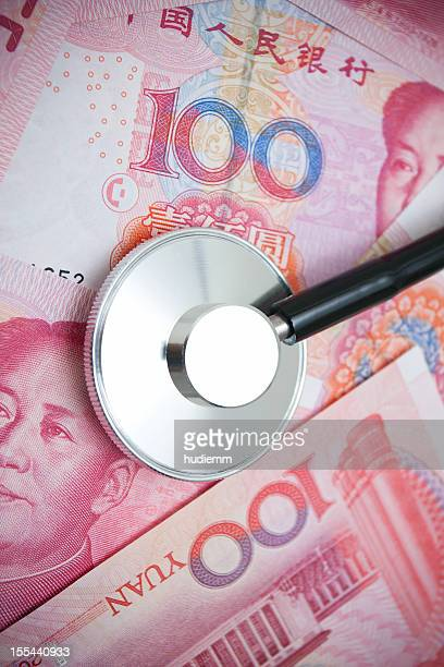 Stetroscope on Chinese Yuan Note Currency