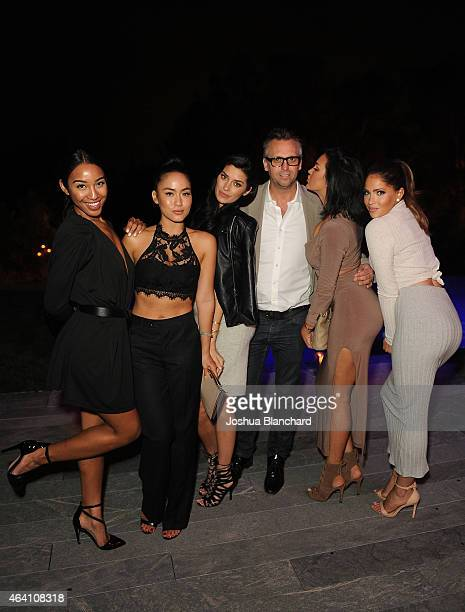 Stev Shaw and guests attend the Treats Magazine PreOscar Party at the Treats Villa presented by OMNIA on February 21 2015 in Los Angeles California